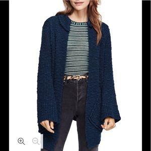 Free People Sweaters - ‼️NWT Free People Waterfront Cardigan Marine S‼️
